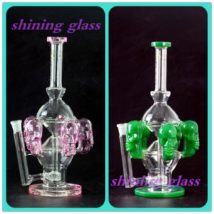 High Quality Unique Design Glass Smoking Water Pipe with Skull Surround pictures & photos