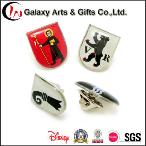 Cheap Custom Design Enamel Epoxy Brass Metal Souvenir Fashion Lapel Pin Badge with Butterfly Clutch pictures & photos
