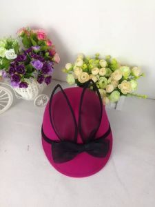 Wool Felt Bowknot Mouse Hat for Children, Animal Hat pictures & photos