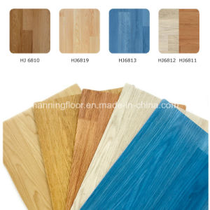 PVC Sports Flooring for Indoor Basketball Wood Pattern-6.5mm Thick Hj6811 pictures & photos