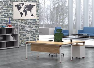White Customized Metal Steel Office Executive Table Frame Ht90-2 pictures & photos