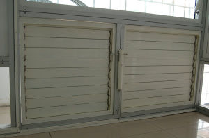 Electric White Coating Aluminum Shutter