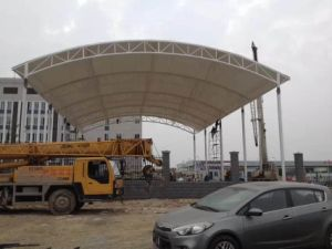 Beautiful Tensile Structural Membrane for Garden Squares pictures & photos