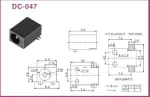 1.0/1.3mm Pin SMT DC Power Jack (DC-047) pictures & photos