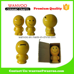 Ceramic Sculpture Smiling Coin Box for Friend′s Birthday Gift pictures & photos