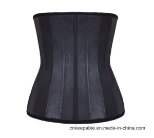 Best Women Waist Cincher Latex Waist Trainer Body Shaper Corset pictures & photos