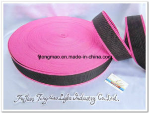 450d Black Pink FDY Polypropylene Webbing for Bags pictures & photos