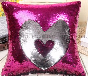 Custom High Quality Creative Bolster Pillow Cushion with Paillette pictures & photos