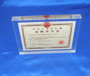 Customize Ad-209 Clear Laser Engraved Acrylic Hot Press Trophy Plaque pictures & photos