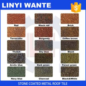 Top Quality Stone Coated Metal Shingle Roof Tiles with Moderate Price pictures & photos