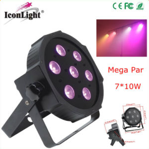 Mini 7X10W LED Mega Flat PAR for Stage pictures & photos