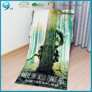 Wholesale 100% Cotton Velour Custom Design Printed Beach Towel pictures & photos