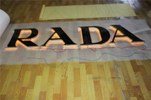 Back Lit Polished Varnish Coating Stainless Steel Channel Letter pictures & photos