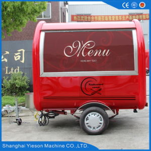 Red Color Mobile Food Trailer with Ce Certificates pictures & photos