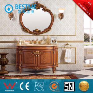 Freestanding Classic Bathroom Mirror Cabinet (BY-F8061) pictures & photos
