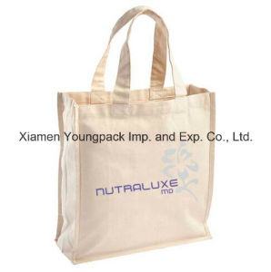 Fashion Promotional Small 100% Natural Cotton Tote Bag with Short Handle pictures & photos