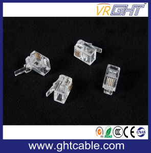 4p4c Crystal Head Rj09 for Phone Handle Receiver Wire pictures & photos