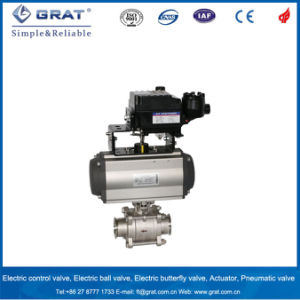 Stainless Steel Clamp Connection Pneumatic Ball Valve pictures & photos
