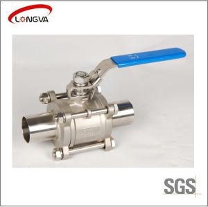 Stainless Steel 3PCS Welding Ball Valve pictures & photos