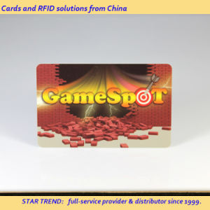 Pearlescent Printing PVC Card with Magnetic Stripe for Arcade Game pictures & photos