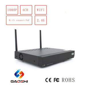 Smartphone Remote Viewing 4CH Display 2CH Playback WiFi CCTV 1080P NVR pictures & photos