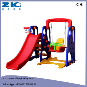 Indoor and Outdoor Kid Plastic Swings and Slides pictures & photos