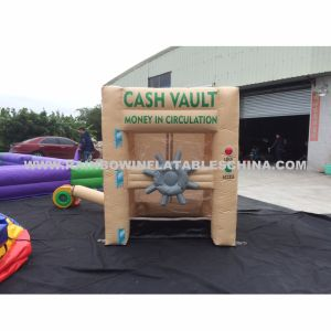 Inflatable Money Catching Machine/Inflatable Cash Booth pictures & photos