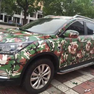Tsautop 1.52*30m Camouflage Car Vinyl Wrapping Self Adhesive Waterproof Air Bubble Free Car Wrap Vinyl PVC Sticker pictures & photos