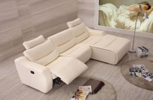 Living Room Furniture Modern Sofa with Recliner Leather Corner for Home Furniture pictures & photos