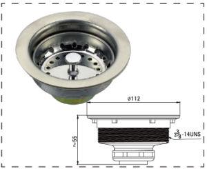 Stainless Steel Kitchen Sink Drain Strainer Sink Basket Strainer for Basin (WF1001) pictures & photos