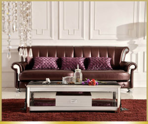 Trunk Style Glass Top Coffee Table for Sale pictures & photos