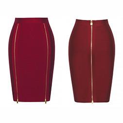 Fashion Women Sexy Slim Zipper High Waist Skinny Skirt pictures & photos