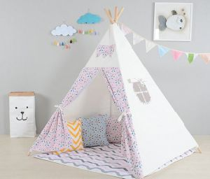 Prink Color Panda Printed Teepee Children Playing Tent (MW6033) pictures & photos