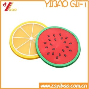 Colorful Fruit Shape Silicone Cup Mat pictures & photos