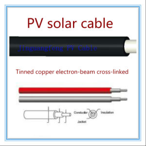 PV1-F TUV Aprroved 4sq PV Solar DC Cable pictures & photos