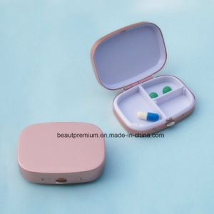 Pink Color 3 Compartments Metal Portable Pill Box BPS0226 pictures & photos
