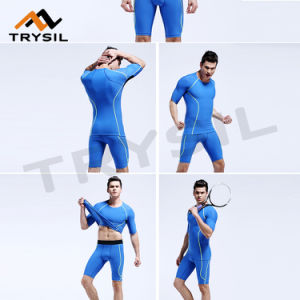 Summer Short Sportswear Sets Fitness Gym Clothing Cycling Wearing pictures & photos