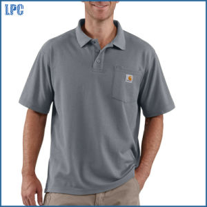 Custom Made Polo Shrit with Company Logo for Work Uniform pictures & photos