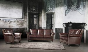 High Grade Classical Sectional Leather Sofa (L077) pictures & photos