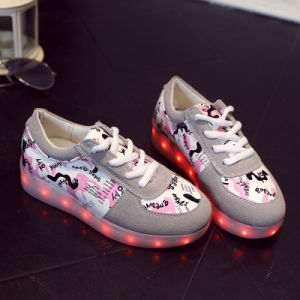 Children LED Light Shoes USB Charging Light Colorful Summer Dance Shoes and Light Dancing Shoes