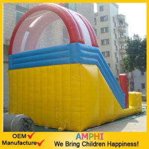 Factory Price Double Lane Inflatable Vertical Rush Slide for Fun pictures & photos