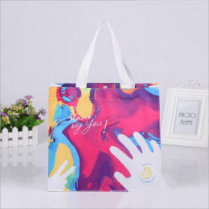Wholesale Environmental Protection Recycled Laminated PP Non-Woven Shopping Bags pictures & photos