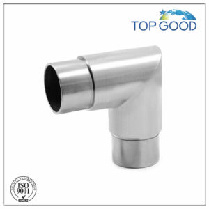 Stainless Handrail 90 Degree Tube Connector with Satin Finish pictures & photos