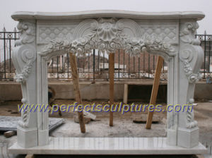 Stone Fireplace with Marble Granite Limestone Sandstone (QY-LS350) pictures & photos