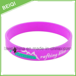 Debossed Colorfilled Personalized Wristband, Personalized Colorfilled Silicone Bracelet, |Beiqi Factory pictures & photos
