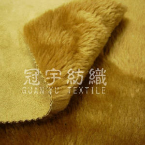 Home Textile Suede Bonded with Plush Fur pictures & photos