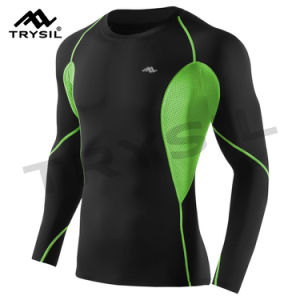 Men′s Long Shirt Sport Clothing Compression Shirt pictures & photos