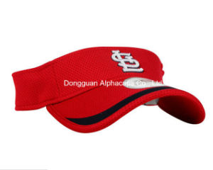 2016 Fashion Hat Red Sun Visor Cap with Flat/Embroidery pictures & photos