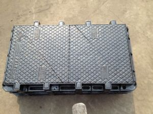 Ductile Iron Manhole Frame with Two Covers En124 D400 pictures & photos