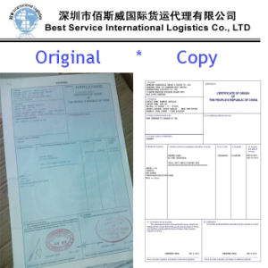 Document Certification of Origin, International Sea Freight, Container Shipping pictures & photos